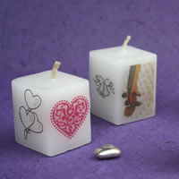 Bridal Favours : Mini Square Candle