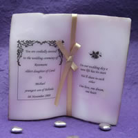 Bridal Favours : Book Candle Invitation