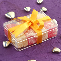 Bridal Favours : Turkish Delight in Perspex Box - Large
