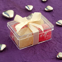 Bridal Favours : Turkish Delight in Perspex Box - Small