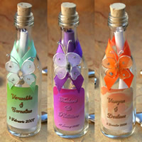 Bridal Favours : Butterfly Message in a Bottle