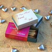 Bridal Favours : Perfect Match Personalised Match Box