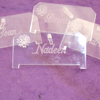 Bridal Favours : Personalised PlexiGlas Placecards