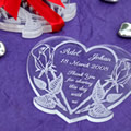 Personalised Heart-shaped Coaster Set