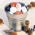 Galvanised Bucket With Almond Pebbles